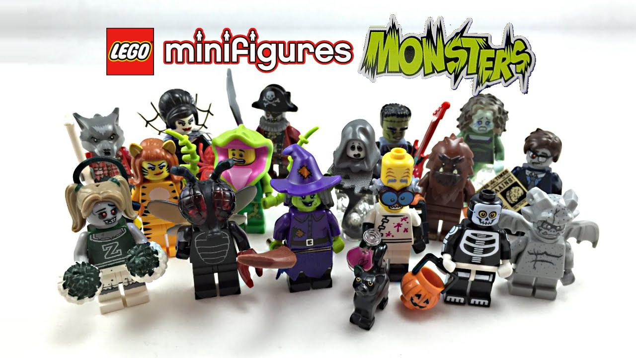 lego minifigures series 14 monsters review complete series 71010 youtube - Lego Monstre