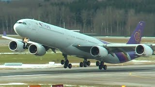 FAREWELL Thai Airways A340-600 at Zurich Airport