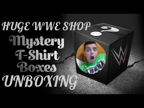 BIGGEST T SHIRT UNBAGGING MYSTERY WWE SHIRT UNBOXING