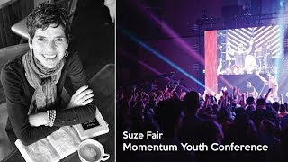 Suze Fare Speaking During a 2017 Momentum Youth Conference Main Session