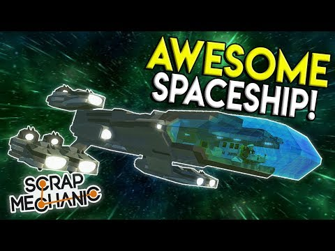 GALAXY EXPLORING SPACESHIP & CLASSIC TRAINS! - Scrap Mechanic Creations Gameplay -Best Builds