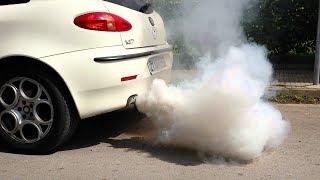 видео Белый дым из выхлопной трубы – причины для бензинового и дизельного двигателя