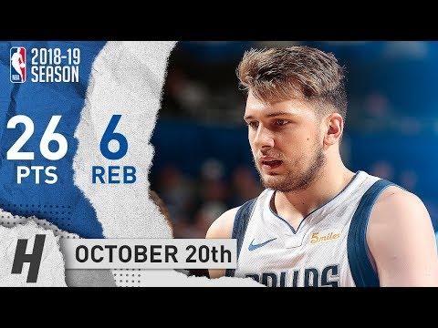 Luka Doncic CRAZY Full Highlights Mavs vs Timberwolves 2018.10.20 - 26 Pts, 6 Reb