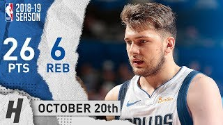 Luka Doncic CRAZY Full Highlights Mavs vs Timberwolves 2018.10.20 - 26 Pts, 6 Reb