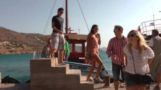 Spinalonga Crete Greece Boat Trip 2011