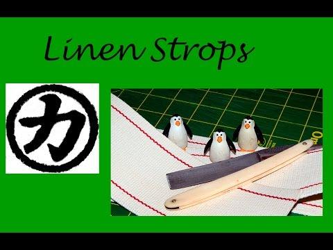 Linen Straight Razor Strops