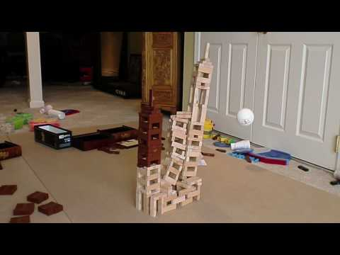 The Destruction of 20 Jenga Towers