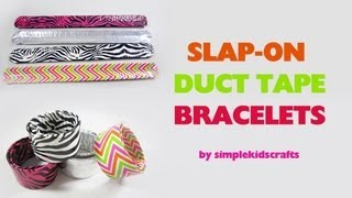 How to make duck tape (duct tape) slap-on bracelet party treats - EP
