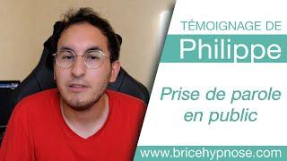 Témoignage de Philippe après une séance d'hypnose à Angers - Prise de parole en public