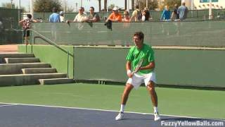 Juan Martin Del Potro (2009 U.S. Open Champion) hitting in High Definition
