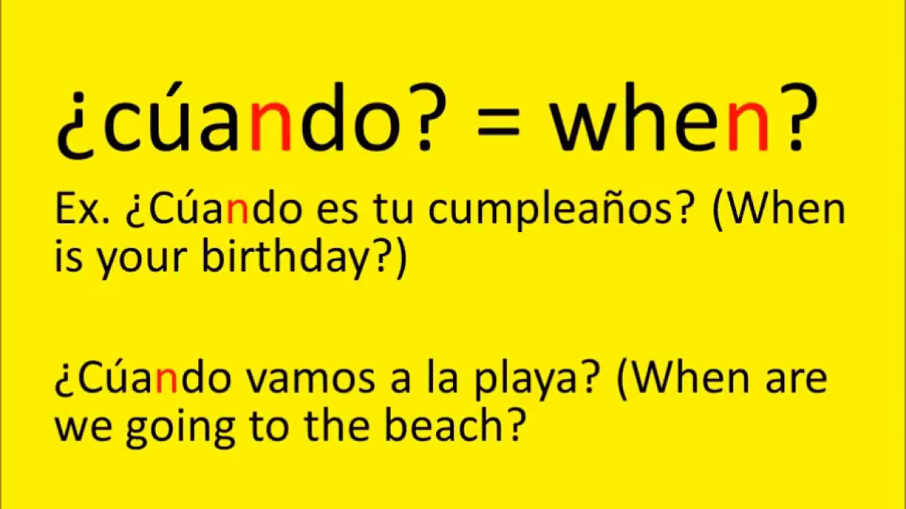 01001 Interrogative Words and Questions in Spanish : Speak Spanish ...