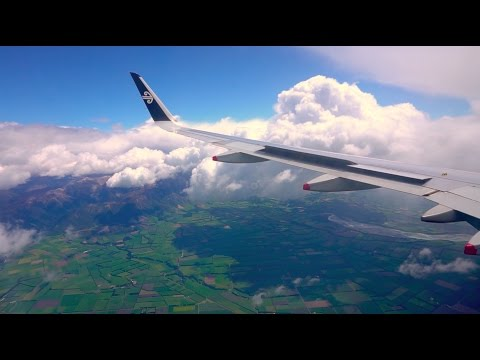 Air New Zealand - Queenstown to Christchurch - Airbus A320 - Stunning views!