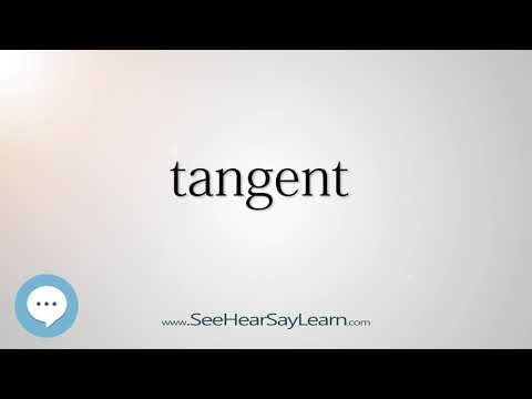 tangent    5,000 SAT Test Words and Definitions Series 🔊