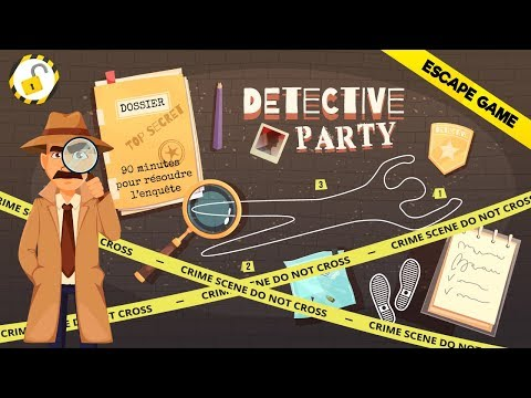Escape Game Detective Party vidéo d'introduction au jeu
