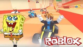 KART WITH SUBSCRIBERS IN MEEPCITY | SpongeBob in Roblox