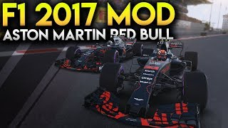 Aston Martin Red Bull 2018 Mod - F1 2017 Game Mod Gameplay