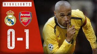 A solo goal from thierry henry capped an outstanding performance as arsenal became the first english team to win in santiago bernabeu stadium. line-u...