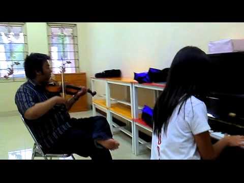 Pelangi KasihNYA instrumental Piano dan Biola