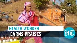 Watch: Health worker rows 18 kms daily to serve kids, mothers in remote villages