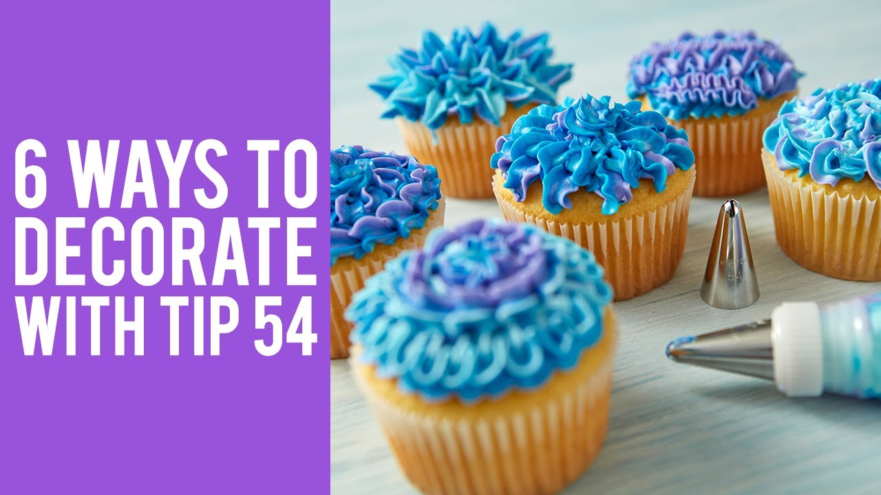 How to Decorate Cupcakes with Tip 54  YouTube