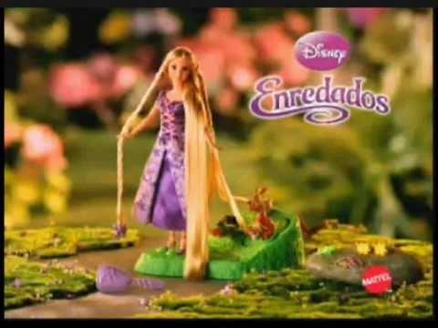 2010 Disney Tangled ( Enredados ) Rapunzel Commercial