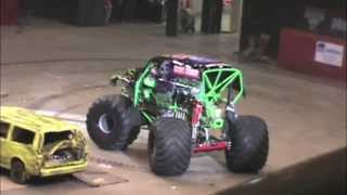 2013 Monster Jam Racing at the Civic Center in Bismarck North Dakota