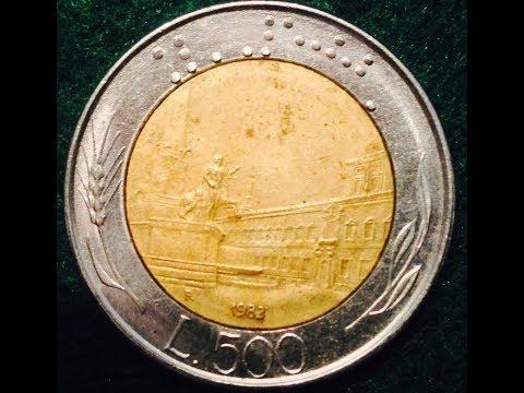 500 Lire Coin  Italy 1983