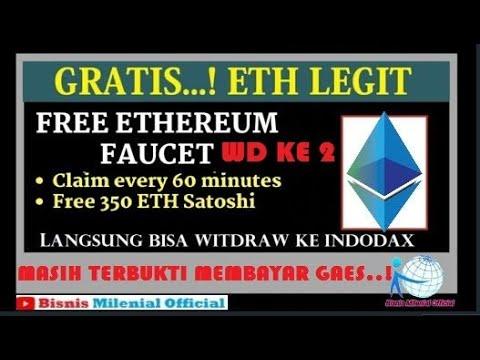 FREE ETH  🔴LIVE WITDRAW YANG KE 2 MASIH LEGIT  Langsung Masuk Ke #INDODAX #Feucet ETH