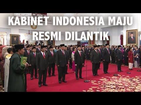 Video Pelantikan Kabinet Indonesia Maju 2019-2024