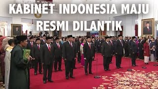 Menteri Kabinet Indonesia Maju Resmi Dilantik Presiden Jokowi