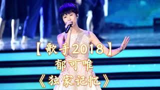 HD高清音质 【歌手2018】 郁可唯   -《独家记忆》 无杂音清晰版本 【最后补位!让我们听听她在歌手2018之前的最佳演绎歌曲吧!】