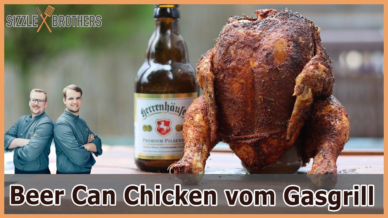 Chicken Gasgrill : Beer can chicken bierdosenhähnchen vom gasgrill youtube