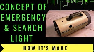 How to make long range emergency   search light at home
