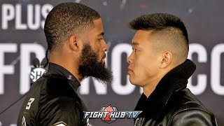 STEPHEN FULTON VS ARNOLD KHEGAI - INTENSE FACE TO FACE AHEAD OF FIGHT AT FINAL PRESSER