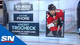 Vincent Trocheck Reacts To Being Traded From Panthers To Hurricanes