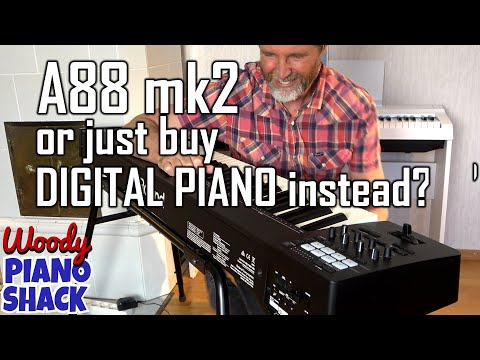 ROLAND A88 Mk2 MIDI controller vs digital piano plus MYSTERY VST