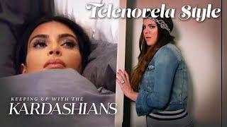 Kim Rages After Khloé Ruins Her Sleep (Escandaloso) | KUWTK Telenovelas | E!