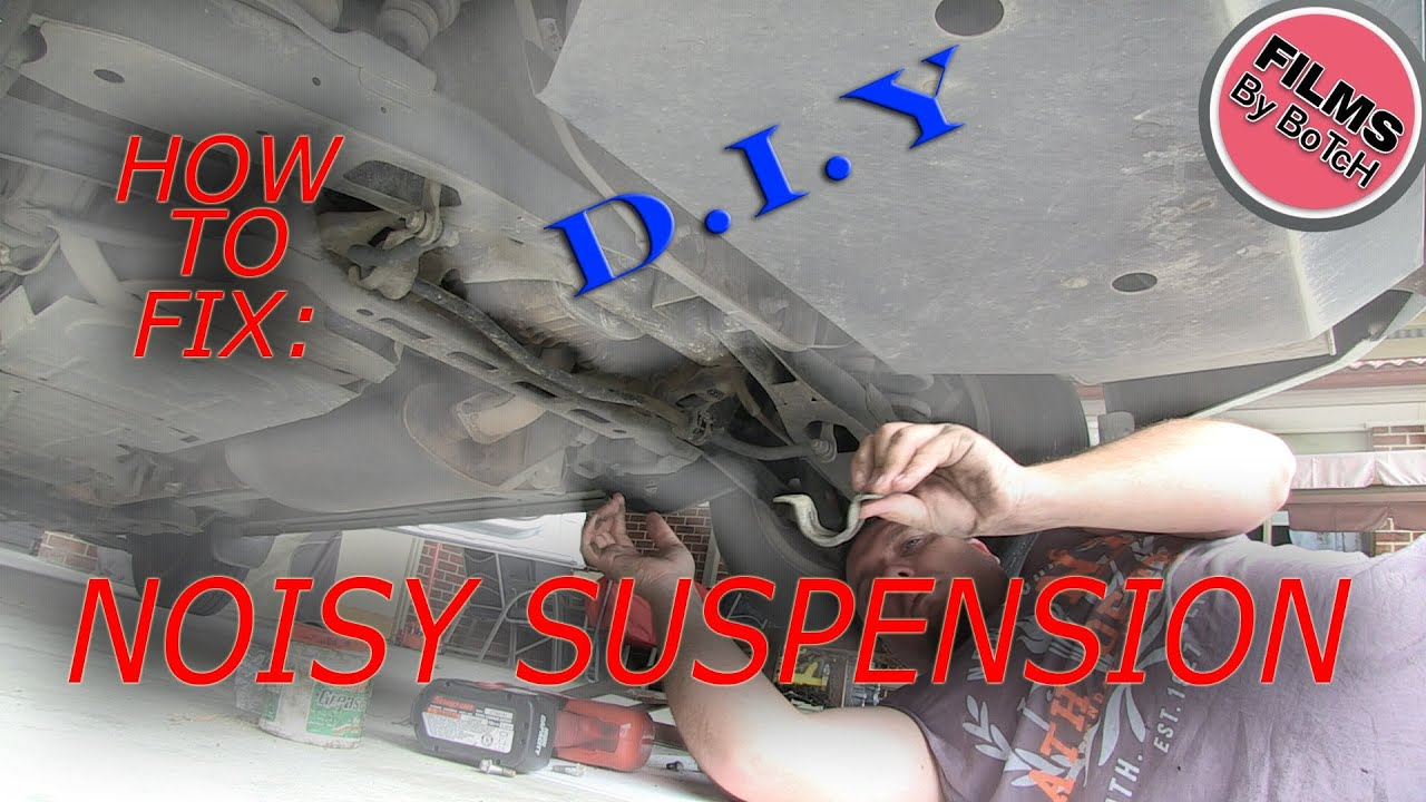 how to fix repair suspension squeaks noise groans sway bar rubbers instructional tutorial [ 1280 x 720 Pixel ]