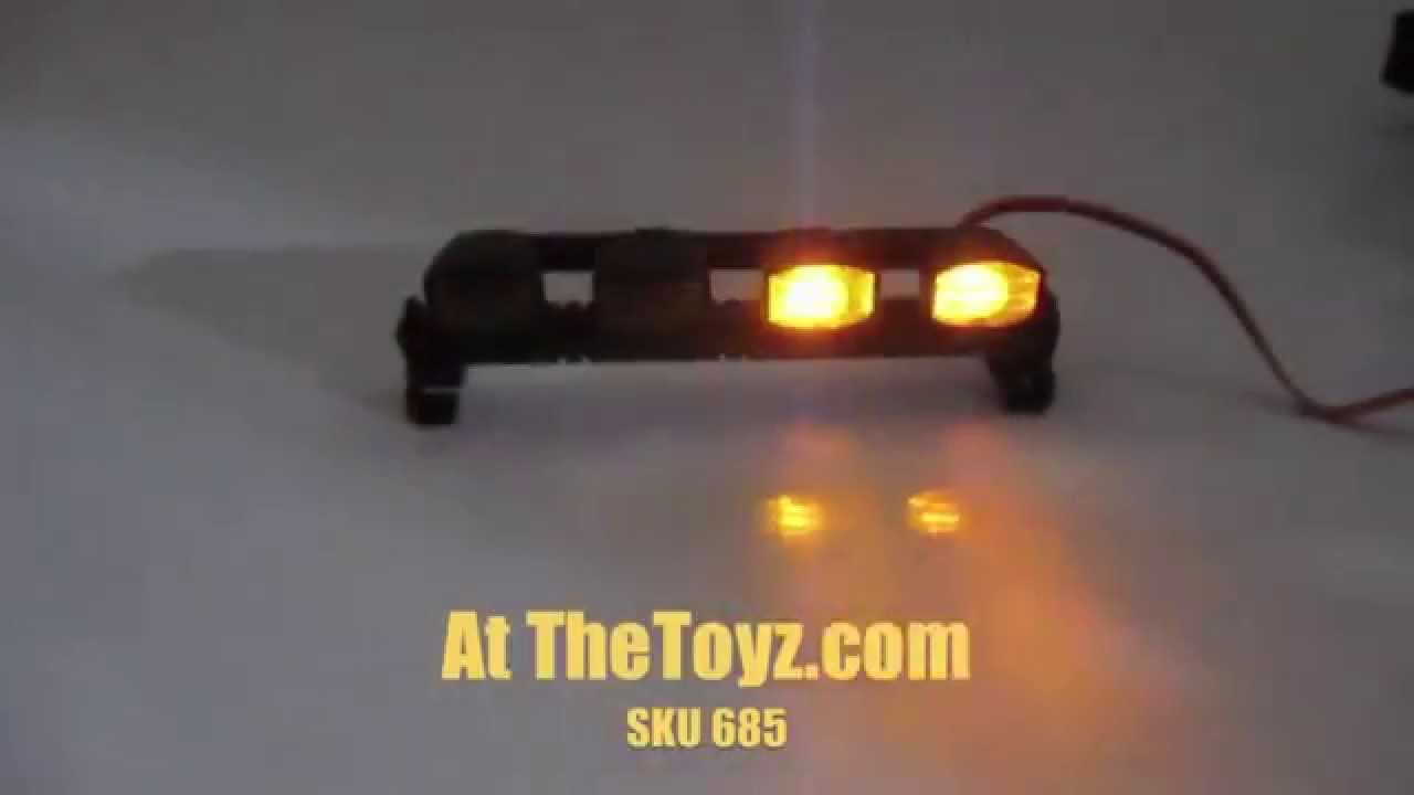 1 10 Rc Yellow Emergency Tow Truck Led Light Bar Youtube
