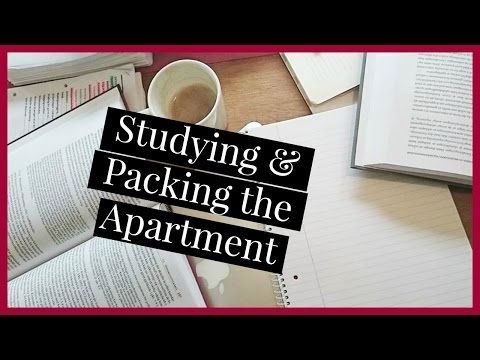 Studying for Finals & Packing the Apartment | Law School Vlog