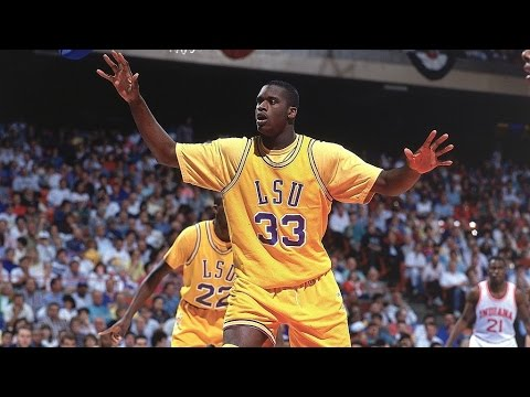 28176bb77a81 Shaquille O Neal - LSU Highlights - YouTube
