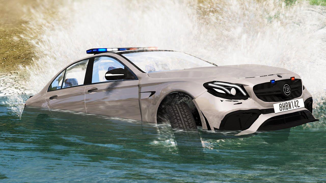صورة فيديو : Cars vs Raging River #1 – BeamNG Drive | CRASHdriven