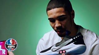 Jayson Tatum talks Nike Adapt BB auto-lacing sneakers, Celtics' road to the playoffs | NBA Countdown