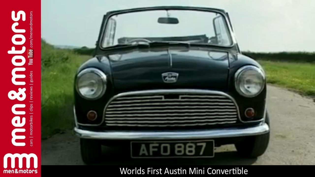 worlds first austin mini convertible youtube. Black Bedroom Furniture Sets. Home Design Ideas