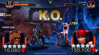 BLADE VS ELEKTRA [LABYRINTH OF LEGENDS]. SOLO! MAKING OUT THOSE BIG COMBOS WITHOUT GETTING HIT 😎