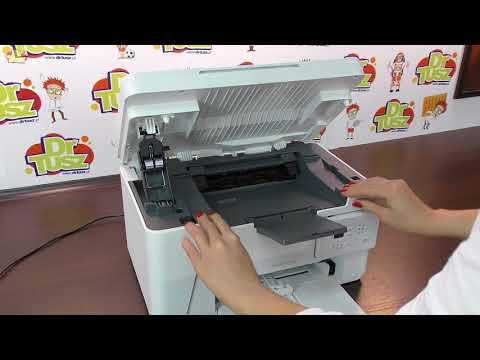 Printer HP LaserJet Pro MFP M26a - how to replace toner cartridge I  DrTusz pl
