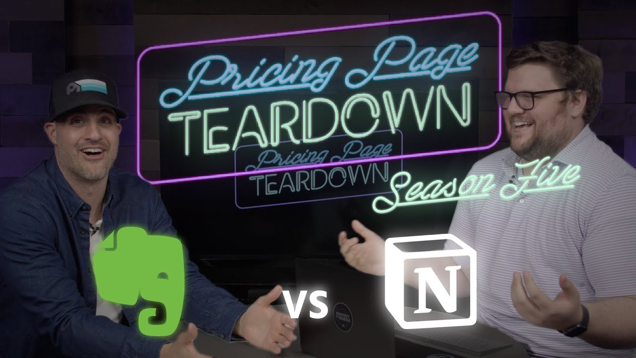 Can Notion Become The New Standard? | Evernote vs Notion | Pricing Page Teardown