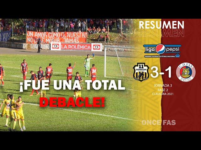 ¡Total debacle!   Once Deportivo 3-1 FAS   Jornada 3 - Fase 2   Clausura 2021