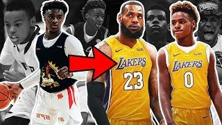 Bronny James Jr IS ALREADY A GOAT Like LEBRON!! They Could Team Up in the NBA #TBT