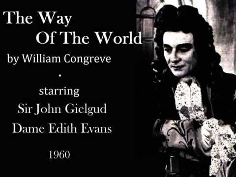 John Gielgud and Edith Evans in The Way Of The World by William Congreve - Act II, Scene 6 - 1960
